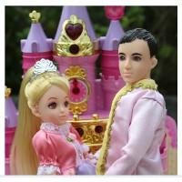 乐吉儿洋布芭比娃娃甜甜屋蛋糕套装大礼盒 可儿公主女孩玩具