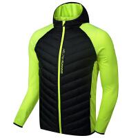 KELME卡尔美 K16R6004 男式运动棉服 防风保暖跑步外套 拼接连帽棉衣