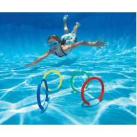 INTEX潜水环 戏水玩具 水底游泳潜水浮标 四个装