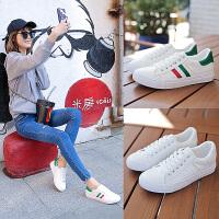 2017夏季新款韩版小白鞋女系带学生板鞋平底休闲鞋女鞋白色运动鞋