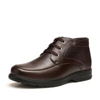 富贵鸟冬潮流季英伦商务正装高帮皮鞋男士高帮鞋保暖加绒棉鞋