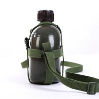 军用水壶老式87铝制户外水壶加厚大容量1.2L军迷用品保温水壶耐摔耐磨战术壶绿色户外军迷壶