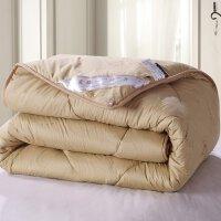 绚典家纺 纯棉驼毛被 加厚秋冬保暖被子被芯 单双人棉被冬被包邮