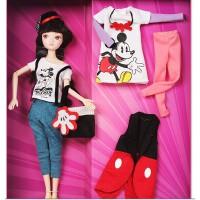 可儿娃娃可儿与米奇布娃娃儿童玩具芭比娃娃压床娃娃6088