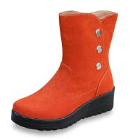 欣清2016新款冬季老北京布鞋女棉靴时尚保暖雪地靴加厚防水靴子
