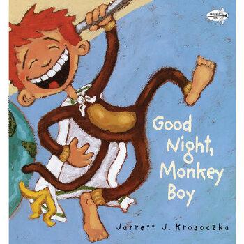 晚安可爱猴子图片