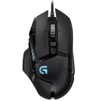 罗技(Logitech)G502 炫光自适应游戏鼠标 RGB鼠标 有线鼠标 竞技可编程 1680万色自定义RGB指示灯!
