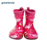 歌瑞家童鞋雨靴儿童雨鞋男童女童宝宝雨靴防滑卡通小孩水鞋乐友