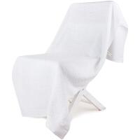 [当当自营]三利 A类加厚长绒棉 缎边大浴巾 纯棉吸水 柔软舒适 带挂绳 婴儿可用 雪白色