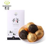 [当当自营]菊花普洱熟茶小沱茶      15粒精致盒装 75克/盒