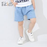 初语童装2016夏装新款男童牛仔短裤中大童个性休闲儿童男中裤