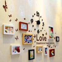 家逸 实木相框 照片墙 时尚创意相片墙 组合混搭相框墙
