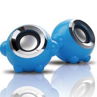 本手(BASIC) F3 独特闹钟外形2.0多媒体小音箱 迷你线控音响 蓝色