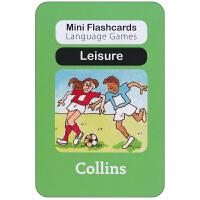 英国进口幼儿认字闪卡 leisure 启蒙学习创意游戏卡片