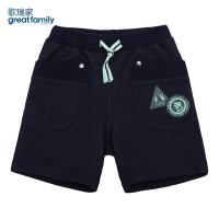 歌瑞家男童针织牛仔短裤藏青色夏装童装儿童宝宝裤子乐友