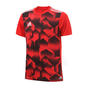 adidas阿迪达斯男装短袖T恤2017新款足球运动服BK3754