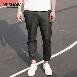 viishow春装新款牛仔长裤 欧美时尚薄款牛仔裤男 束脚男裤潮