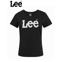 lee商场同款夏季新款女士纯棉印花短袖T恤L16348V41K11