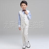 六一演出服花童礼服钢琴主持人儿童礼服夏小西装男童马甲套装
