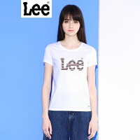 Lee女装商场同款2017夏新品LOGO印花情侣女士短袖T恤L190942ACK14
