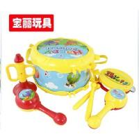 宝丽音乐互动乐器组合摇铃 欢乐喇叭/沙锤/手拍鼓 4件套儿童玩具