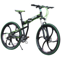 自行车27速铝合金山地车碟刹微转折叠车