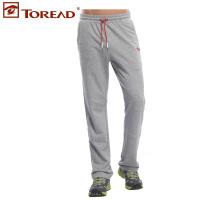 探路者新款男式韩版户外抽绳休闲裤卫裤TAMD81560