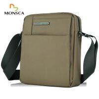 摩斯卡 男士防水牛津布运动休闲款大容量多功能单肩背包斜挎包旅行包