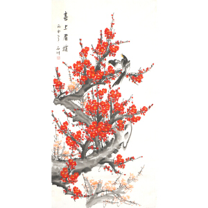 实力青年画家 石川《喜上眉梢》