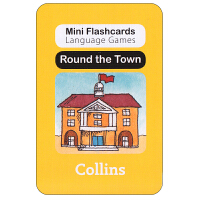 英国进口幼儿认字闪卡 round the town 启蒙学习创意游戏卡片