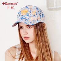 kenmont帽子夏天韩版潮印花棒球帽女时尚嘻哈春秋鸭舌帽户外遮阳3203