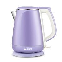AUX/奥克斯电热水壶双层防烫不锈钢自动断电烧水壶电水壶分体式电水壶泡茶壶