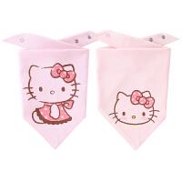 hellokitty婴儿口水巾宝宝棉毛布三角巾
