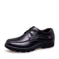 货到付款 ROWOO罗宇男鞋加大码商务正装皮鞋秋冬新款真皮软皮系带男鞋
