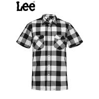 Lee 衬衫男士短袖夏季衬衣男装灰色男式6390-6T8A