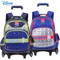迪士尼大白小学生卡通双肩书包三轮可爬楼拉杆包配送防雨罩IB0015